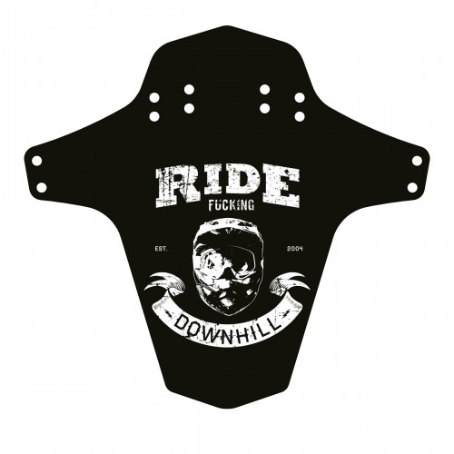 Reverse Mudguard-Ride Schutzblech Fucking Downhill, schwarz/weiß
