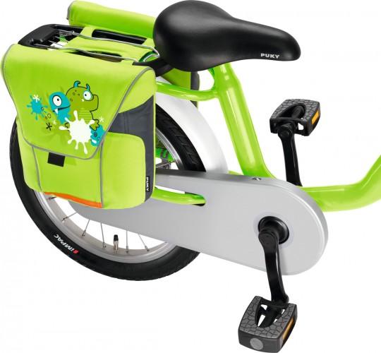 Puky DT 3 Gepäckträgertasche / Doppeltasche für Kinder Fahrrad grün