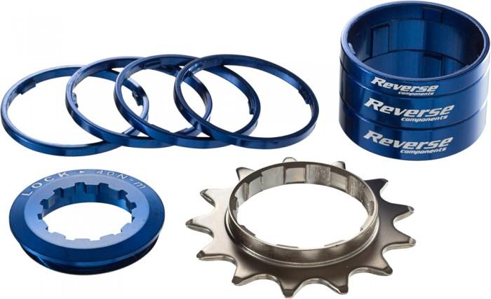 Reverse Single Speed Umbau Kit 13 Zähne dunkel blau