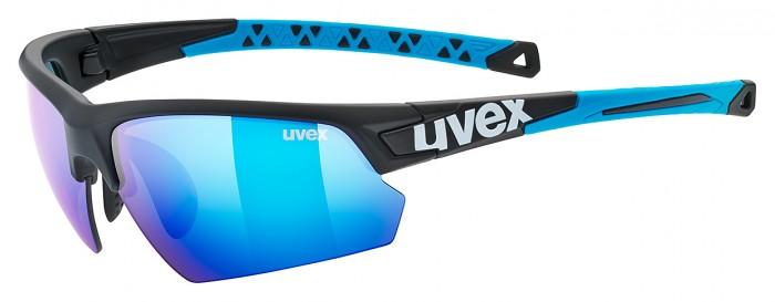 Uvex Sportstyle 224 Wechselscheiben Fahrrad Brille schwarz/blau