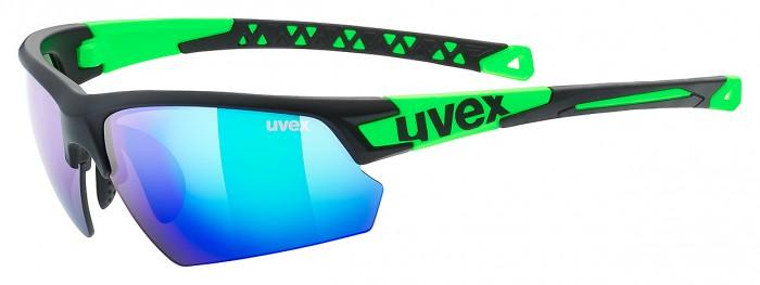 Uvex Sportstyle 224 Wechselscheiben Fahrrad Brille schwarz/grün