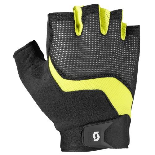 scott essential fahrrad handschuhe kurz schwarz gelb 2019. Black Bedroom Furniture Sets. Home Design Ideas