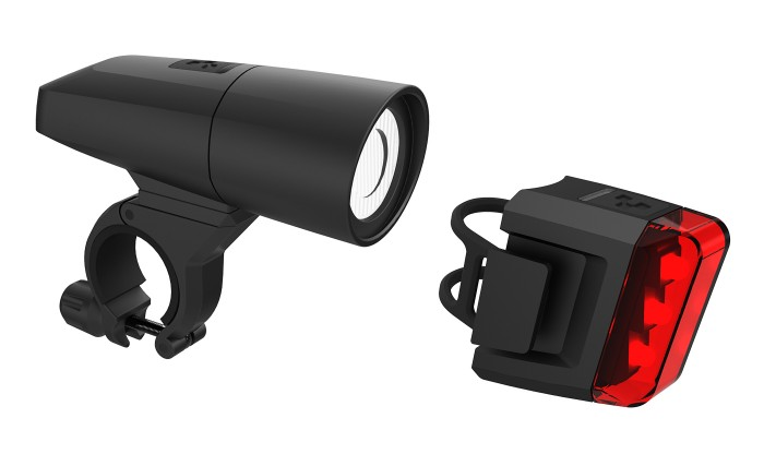 Cube PRO 18 Fahrrad Beleuchtungsset schwarz