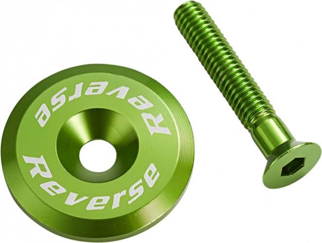Reverse Steuersatzkappe Alu mit Schraube dunkel grün