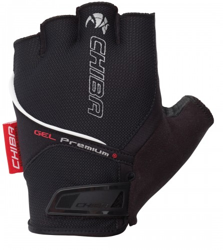 Chiba Gel Premium Fahrrad Handschuhe kurz schwarz 2022