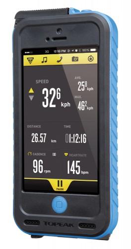 Topeak Weatherproof RideCase + PowerPack für iPhone 5 ohne Halter schwarz/blau