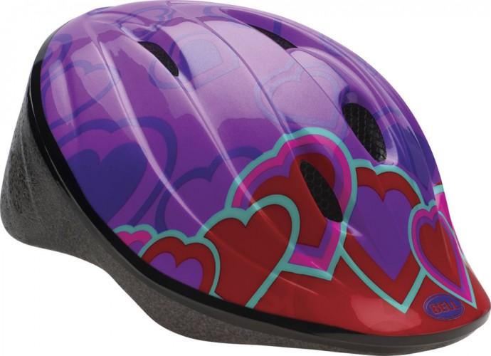 Bell Bellino Kinder Fahrrad Helm Heart lila/rot 2017