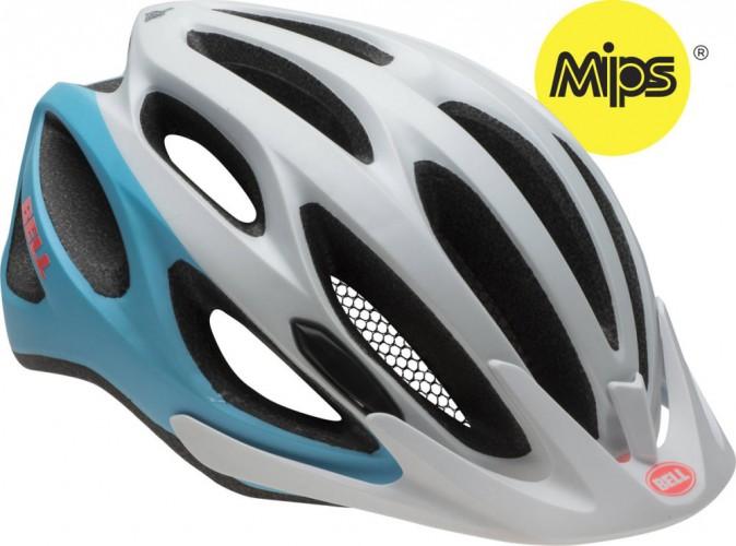 Bell Coast MIPS Damen Fahrrad Helm Gr. 50-57cm weiß/blau 2016