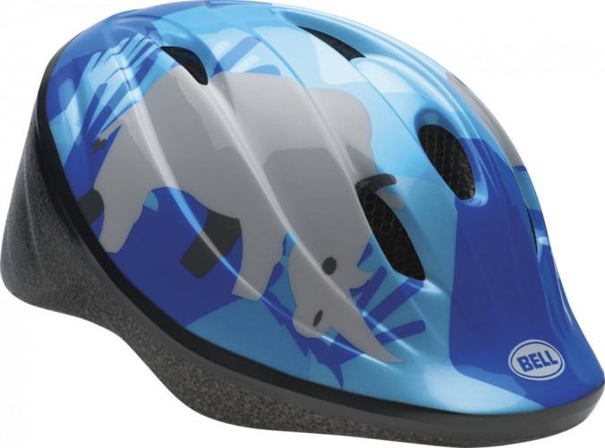 Bell Bellino Kinder Fahrrad Helm Safari blau 2017