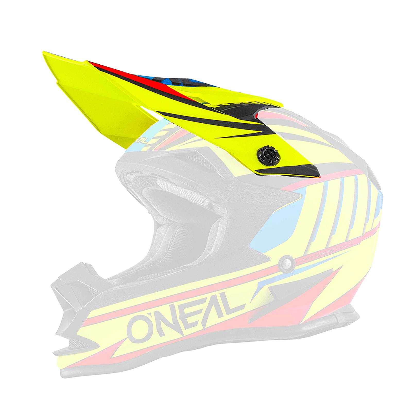 O/'neal Spare Visor 7 Series Evo Helm Visier Chaser schwarz//weiß Oneal