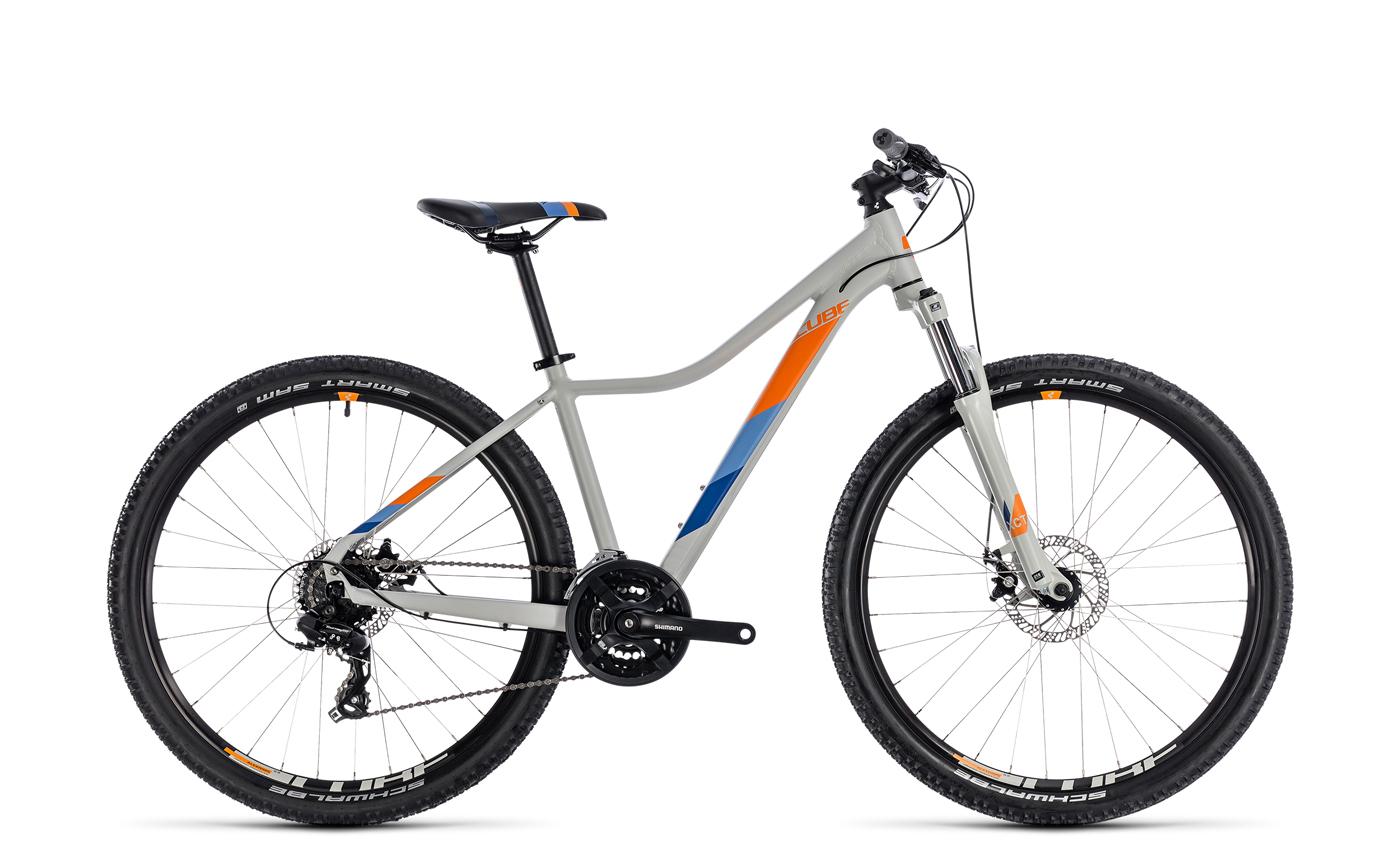 cube access 27 5 39 39 29 39 39 damen mtb fahrrad grau orange. Black Bedroom Furniture Sets. Home Design Ideas