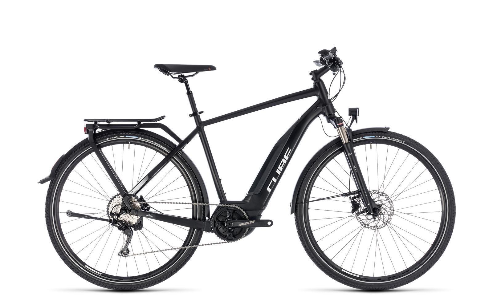cube touring hybrid pro 400 herren trekking pedelec e bike fahrrad schwarz wei 2018 von top. Black Bedroom Furniture Sets. Home Design Ideas