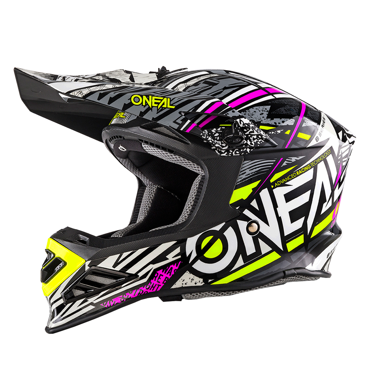 o 39 neal 8 series synthy motocross enduro mtb helm schwarz. Black Bedroom Furniture Sets. Home Design Ideas