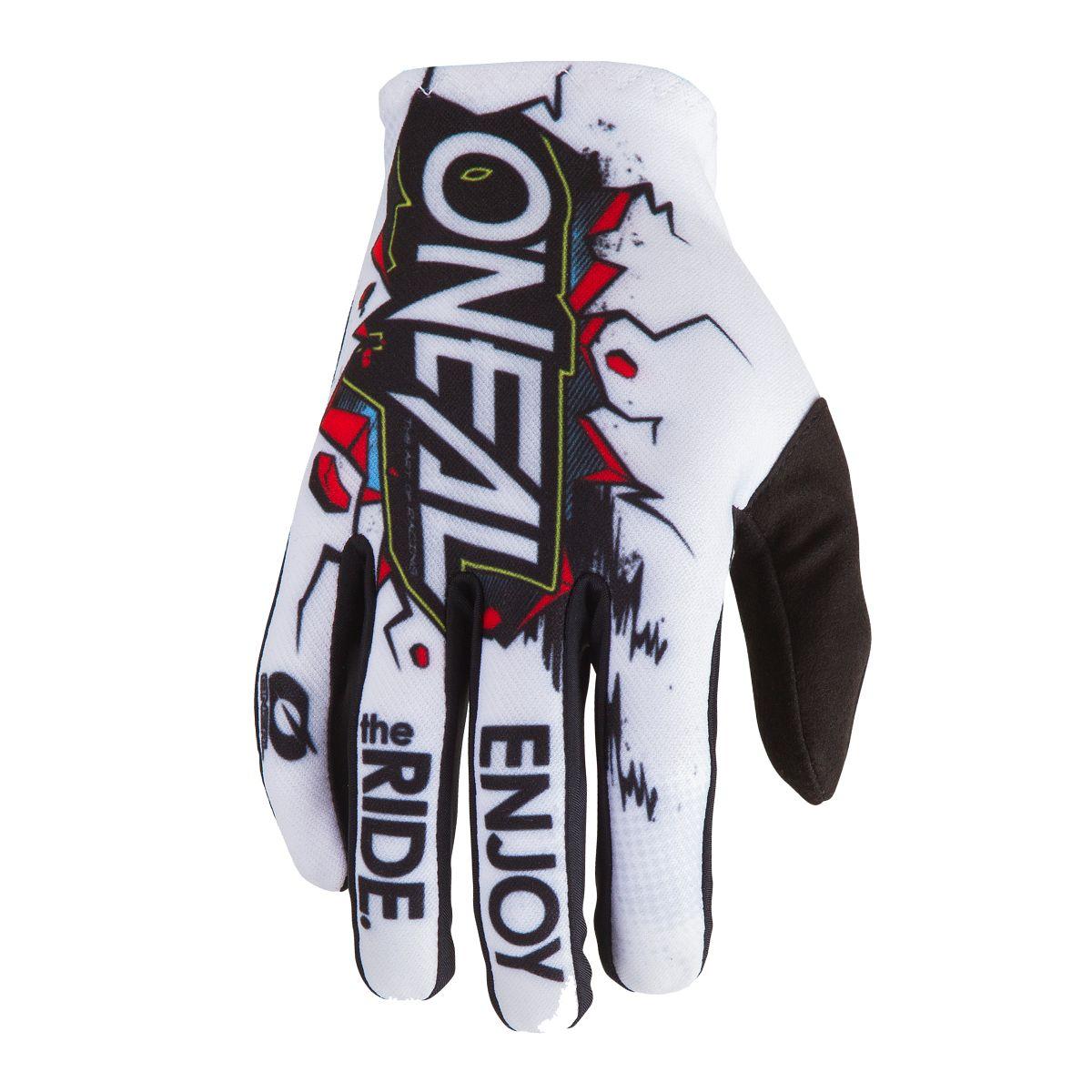 ONeal Handschuhe Moto Cross Mountain Bike MTB DH Motorrad Fahrrad schwarz weiss