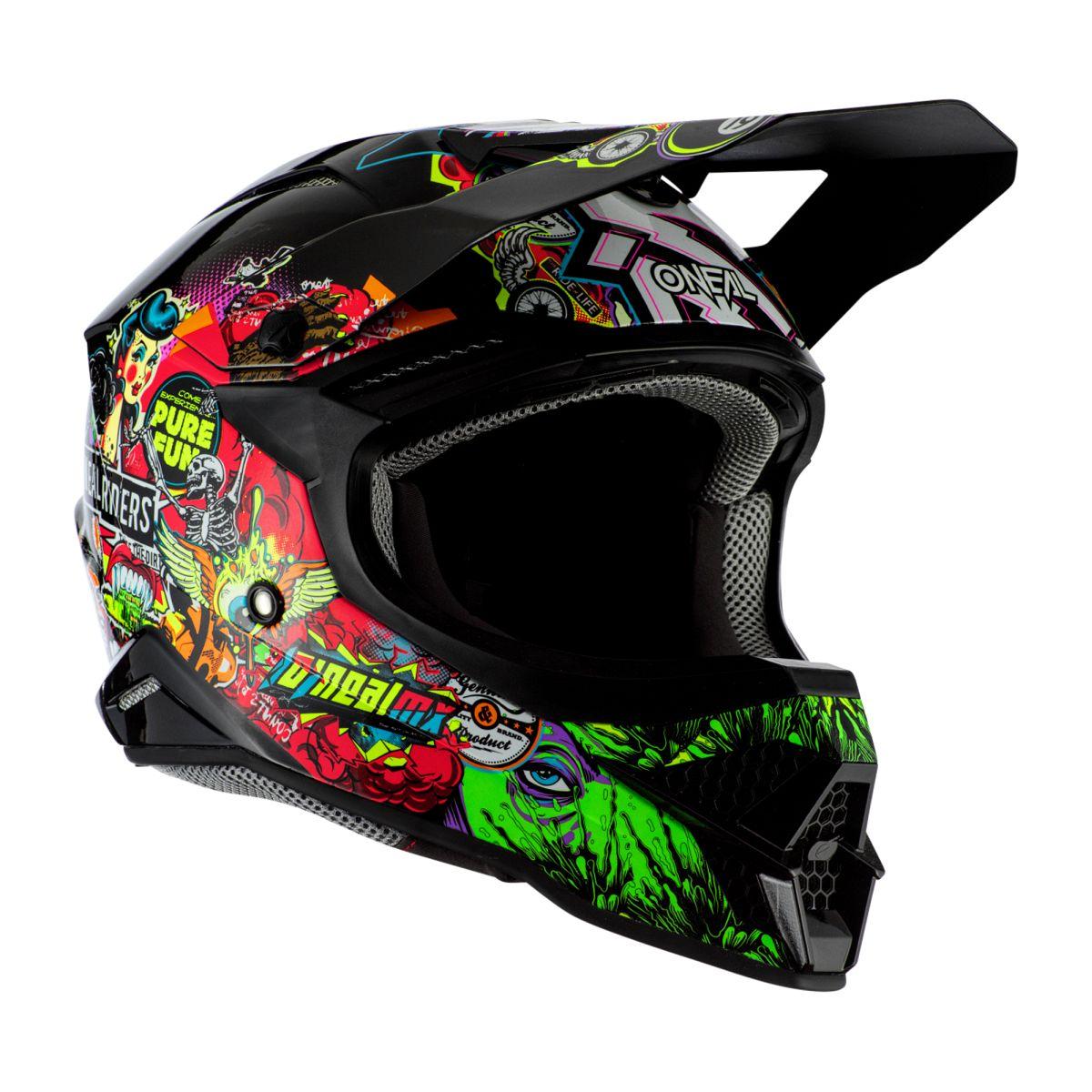 Gr/ö/ße ONeal 3 Series Crank 2.0 Motocross Enduro MTB Helm schwarz//Multi 2020 Oneal M 57-58cm