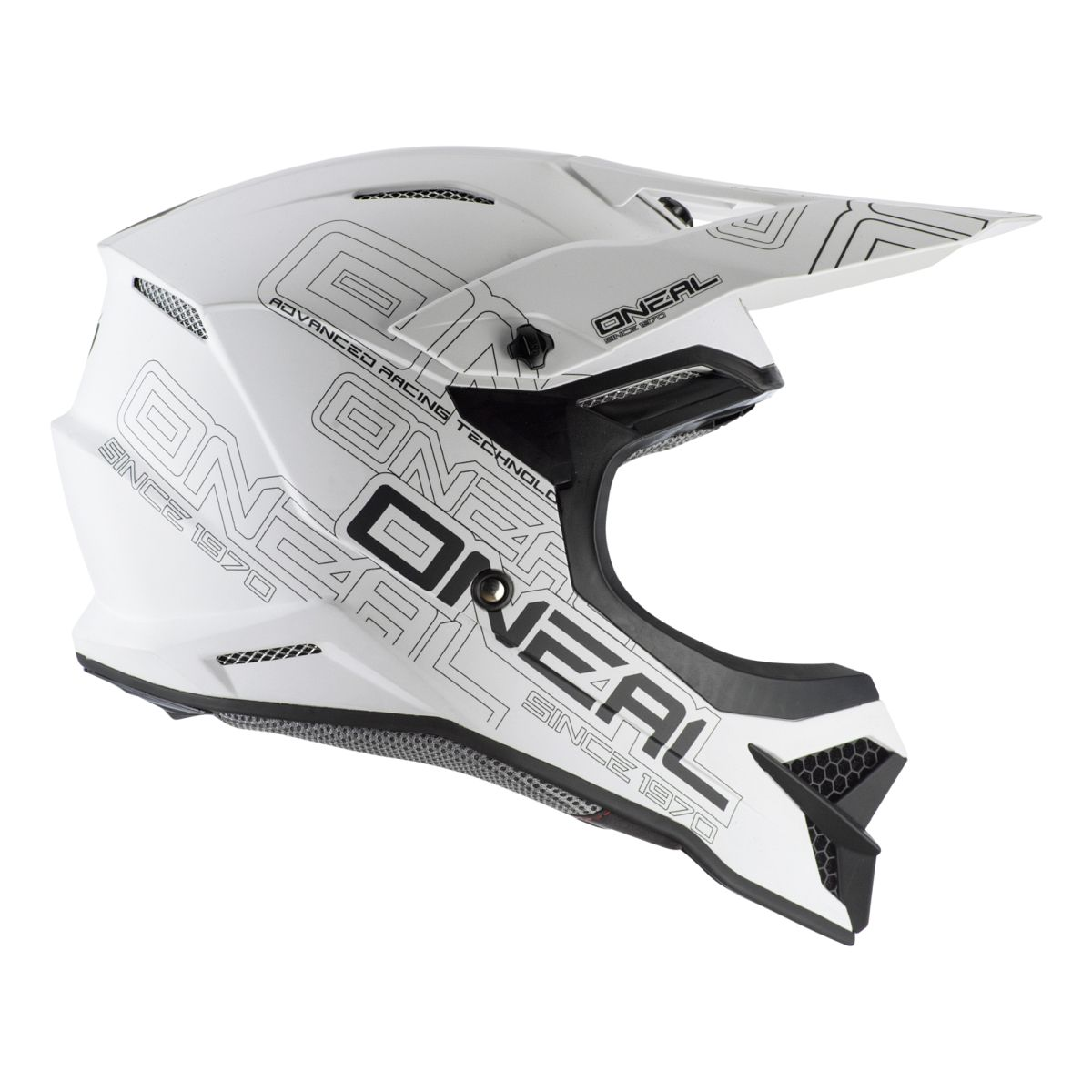 Gr/ö/ße 61-62cm XL ONeal 3 Series Flat 2.0 Motocross Enduro MTB Helm wei/ß 2020 Oneal