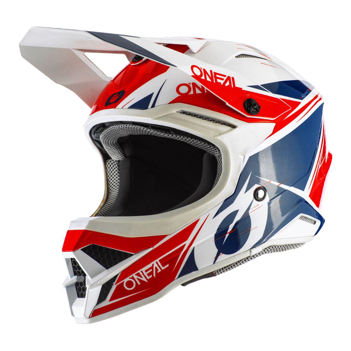 ONEAL 3 Series Stardust Motocross Enduro MTB Helm wei/ß//rot//blau 2021 Oneal