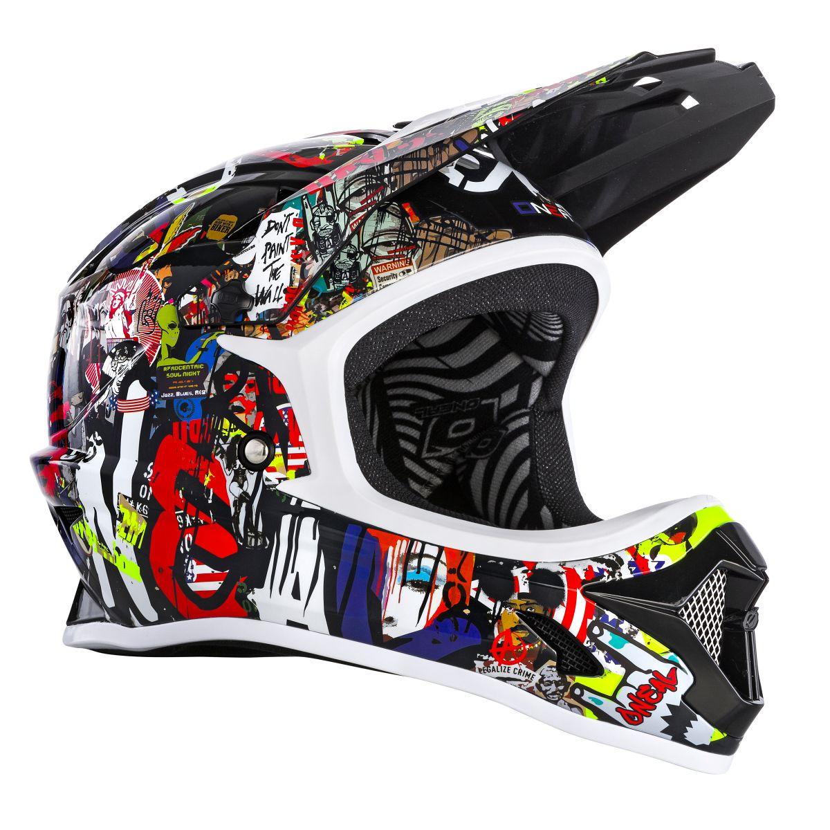ONEAL Backflip Rancid DH Fahrrad Helm schwarz//Multi 2020 Oneal
