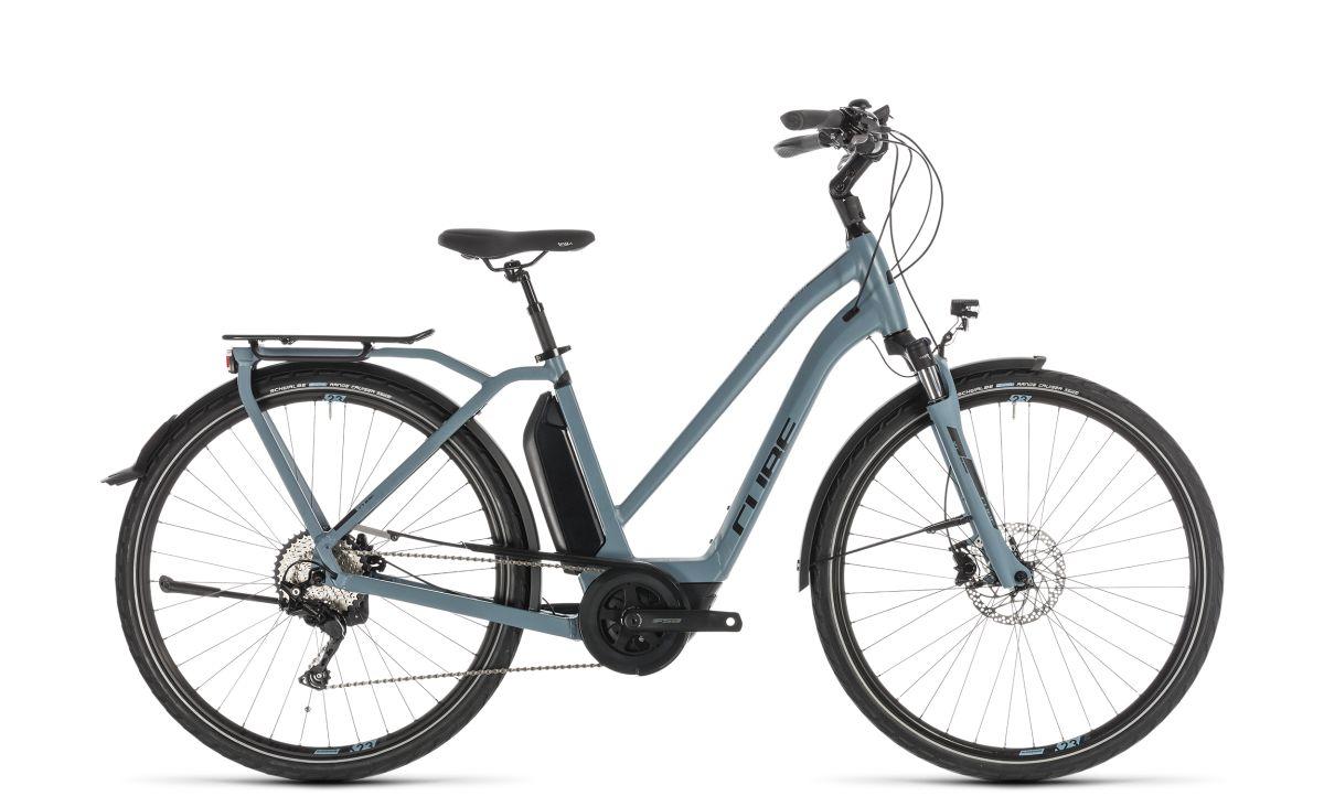 cube town sport hybrid pro 400 damen pedelec e bike trekking fahrrad blau schwarz 2019 von top. Black Bedroom Furniture Sets. Home Design Ideas