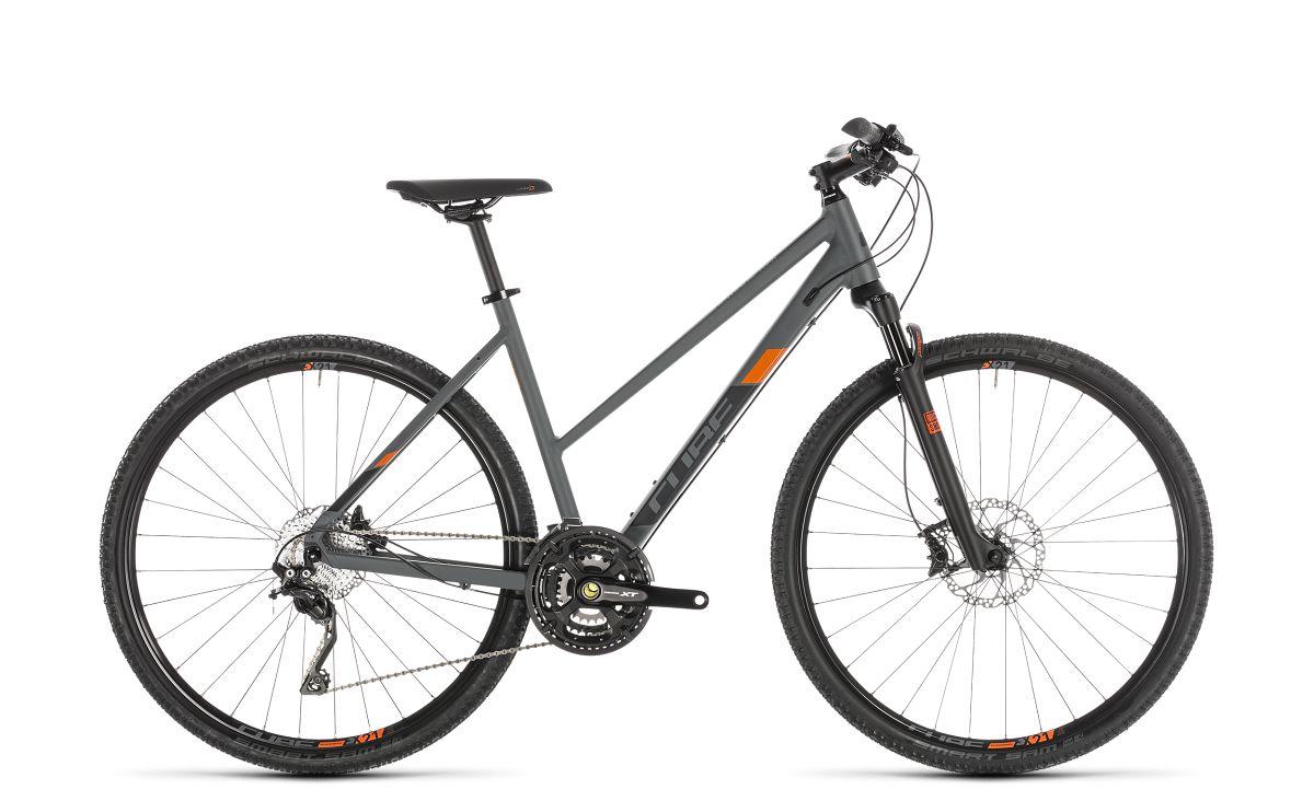cube cross exc damen cyclocross fahrrad grau orange 2019. Black Bedroom Furniture Sets. Home Design Ideas