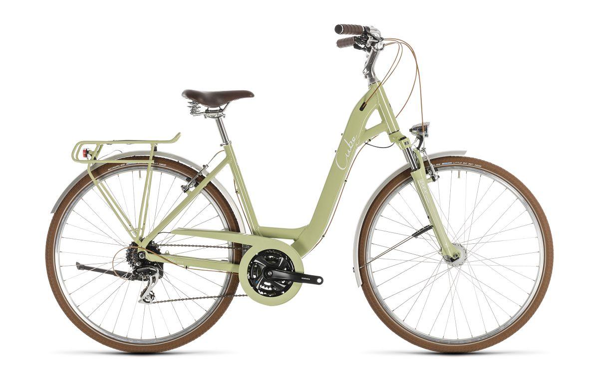 cube ella ride easy entry unisex trekking fahrrad gr n. Black Bedroom Furniture Sets. Home Design Ideas