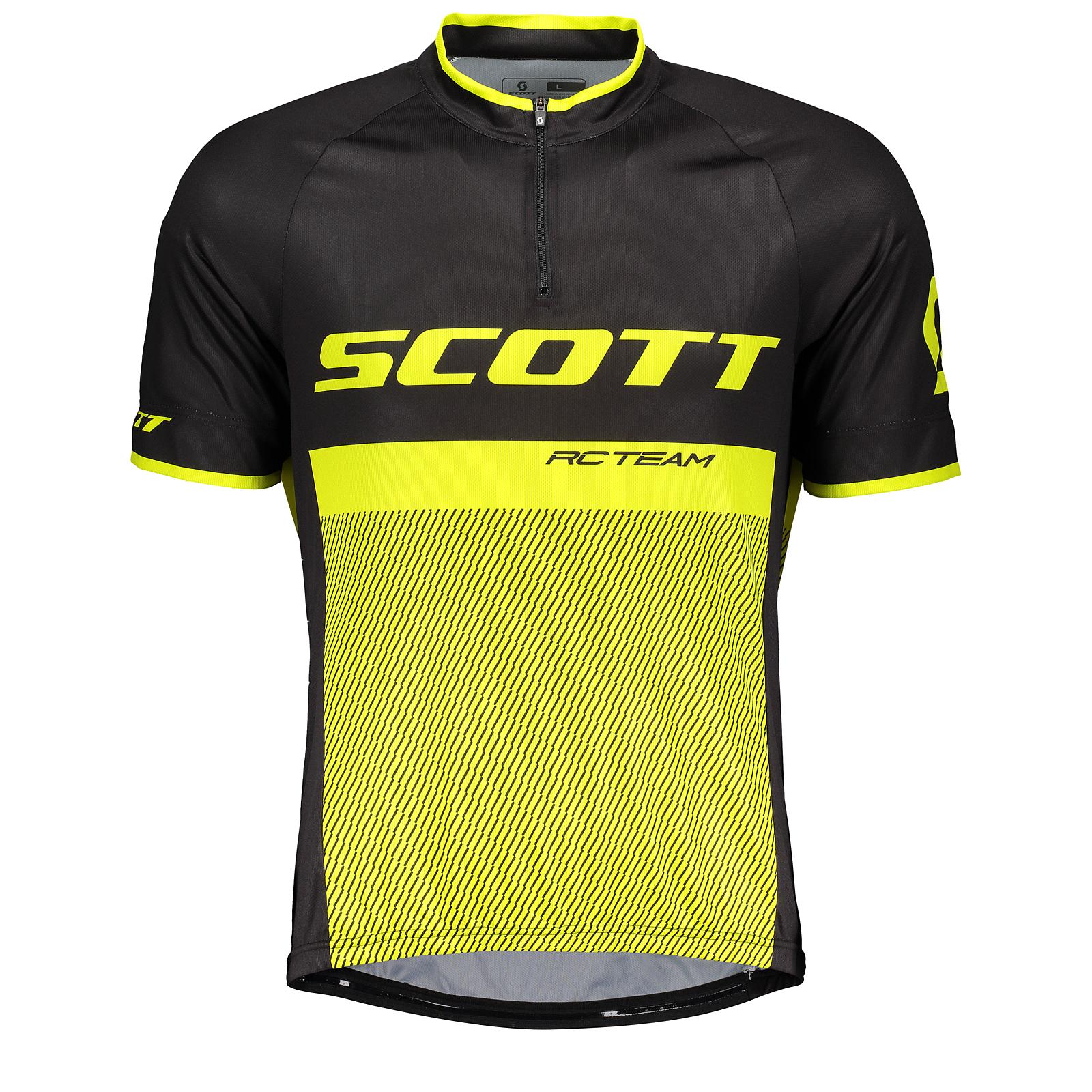Scott RC Team 20 Fahrrad Trikot kurz schwarz/gelb 2018   von Top ...