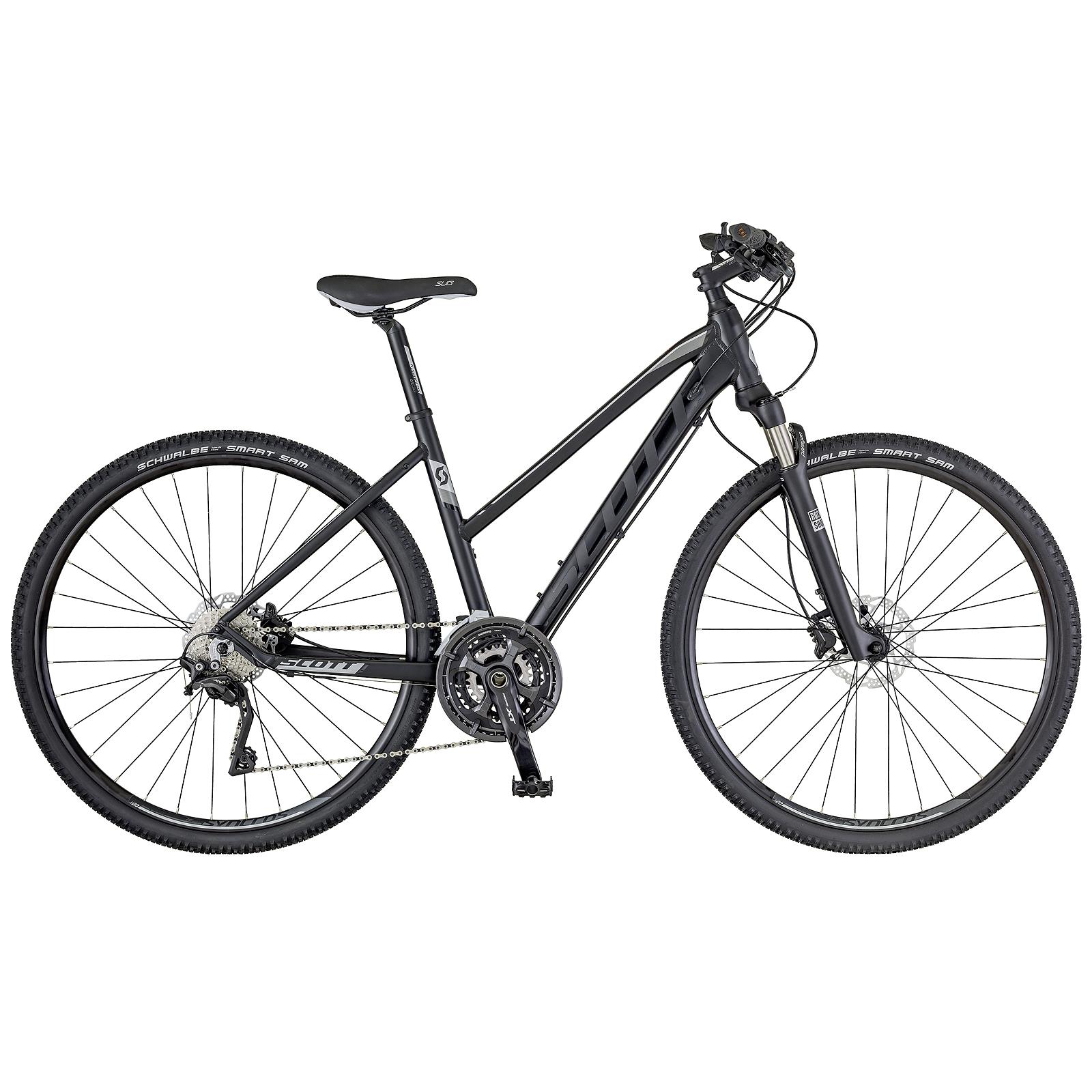 scott sub cross 10 damen trekking bike fahrrad schwarz. Black Bedroom Furniture Sets. Home Design Ideas
