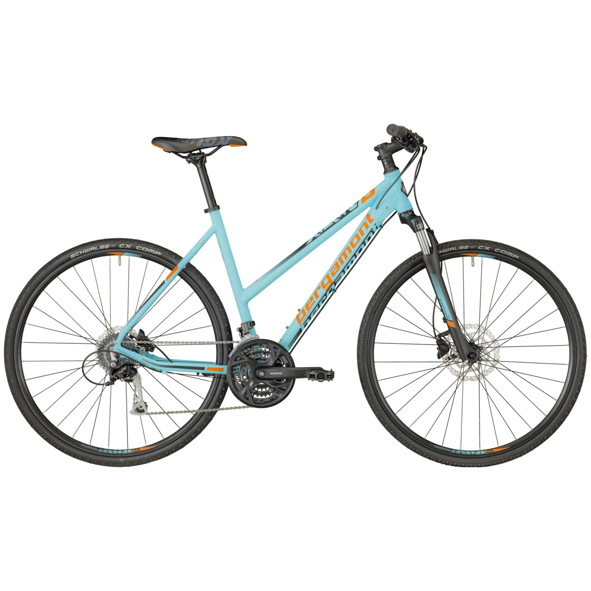 bergamont helix 5 0 damen cross trekking fahrrad blau. Black Bedroom Furniture Sets. Home Design Ideas