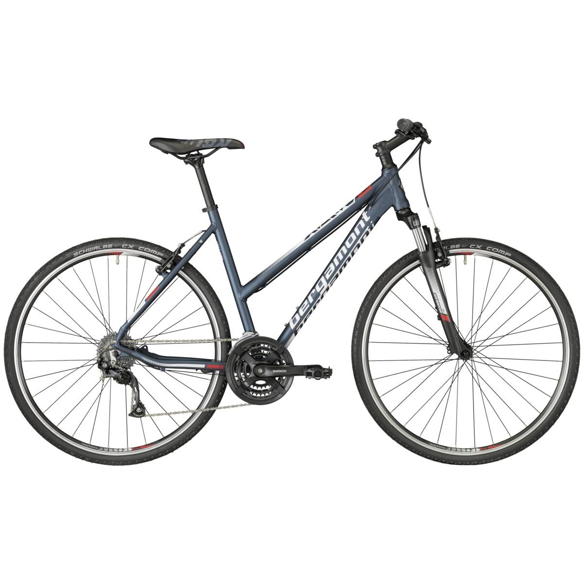bergamont helix 3 0 damen cross trekking fahrrad blau wei. Black Bedroom Furniture Sets. Home Design Ideas