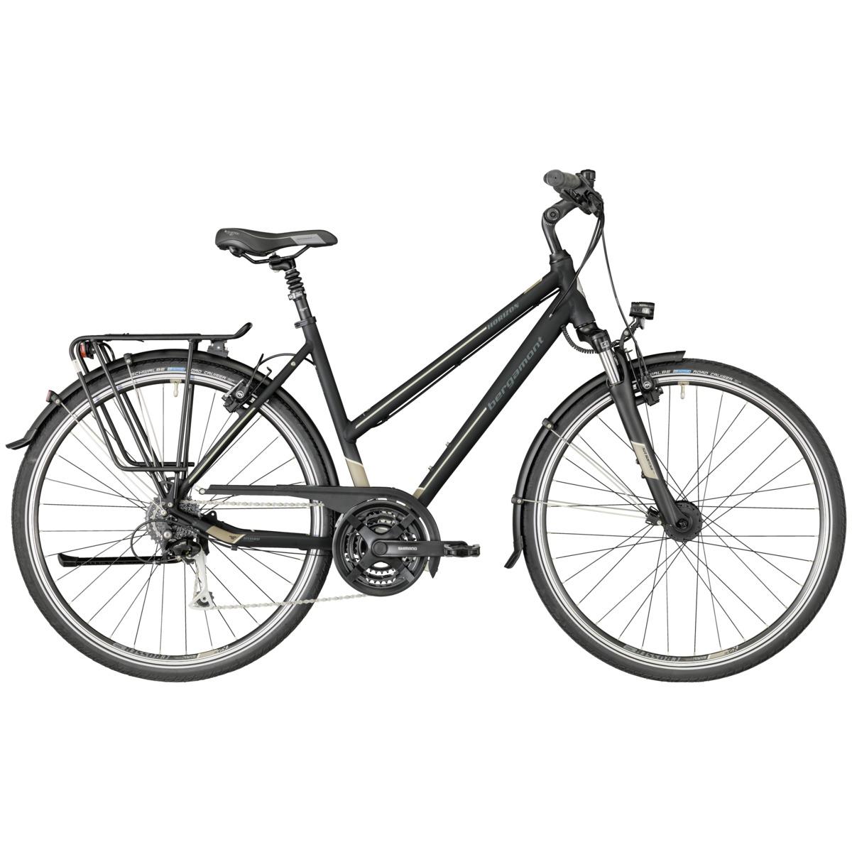 bergamont horizon 5 0 damen trekking fahrrad schwarz grau. Black Bedroom Furniture Sets. Home Design Ideas