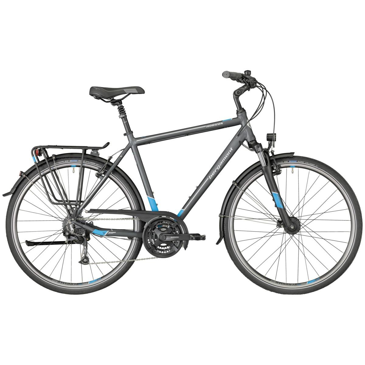 bergamont horizon 3 0 herren trekking fahrrad grau blau. Black Bedroom Furniture Sets. Home Design Ideas