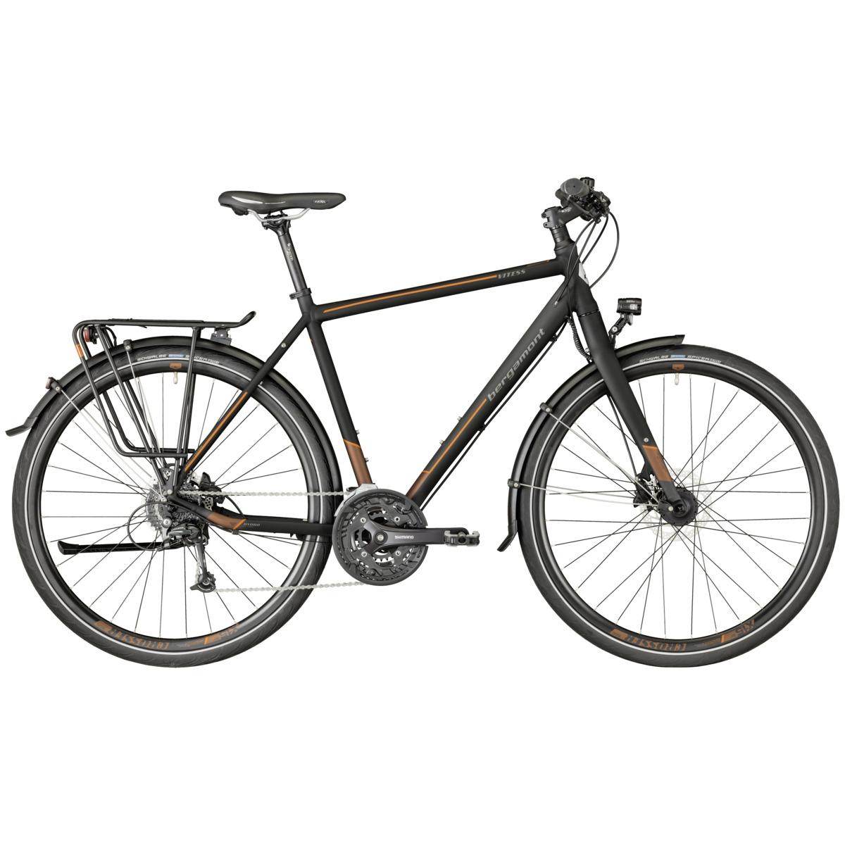 bergamont vitess 6 0 herren trekking fahrrad schwarz braun. Black Bedroom Furniture Sets. Home Design Ideas