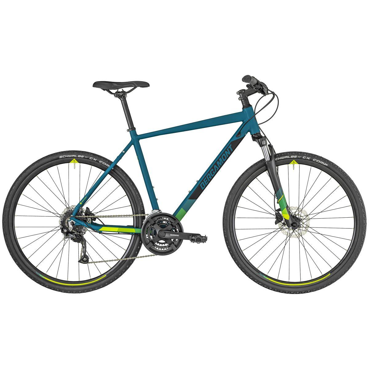 bergamont helix 3 cross trekking fahrrad petrol blau. Black Bedroom Furniture Sets. Home Design Ideas