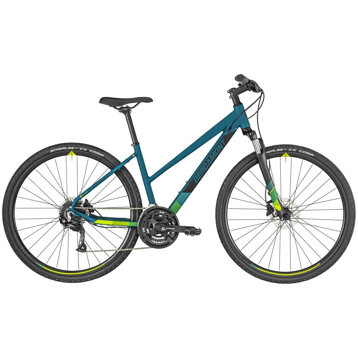 bergamont helix 3 damen cross trekking fahrrad petrol blau. Black Bedroom Furniture Sets. Home Design Ideas