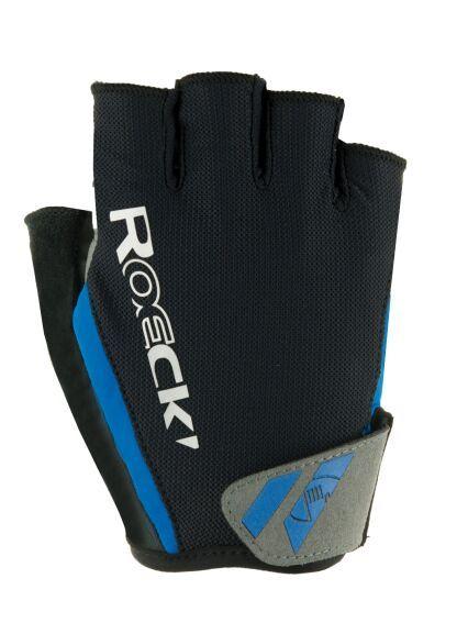 56ed7a9fd12acf Roeckl Ilio Fahrrad Handschuhe kurz schwarz/blau 2019 | von Top ...