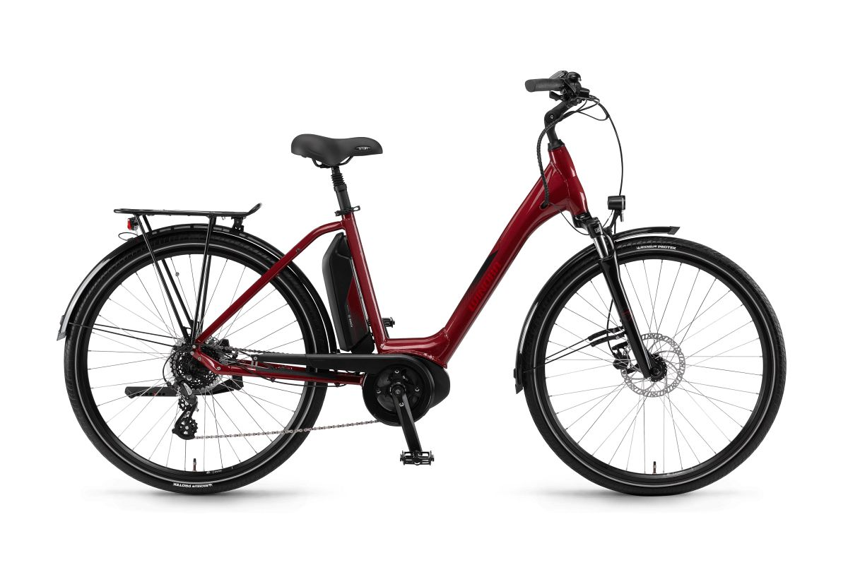 winora sima 7 400 26 39 39 pedelec e bike trekking fahrrad rot. Black Bedroom Furniture Sets. Home Design Ideas