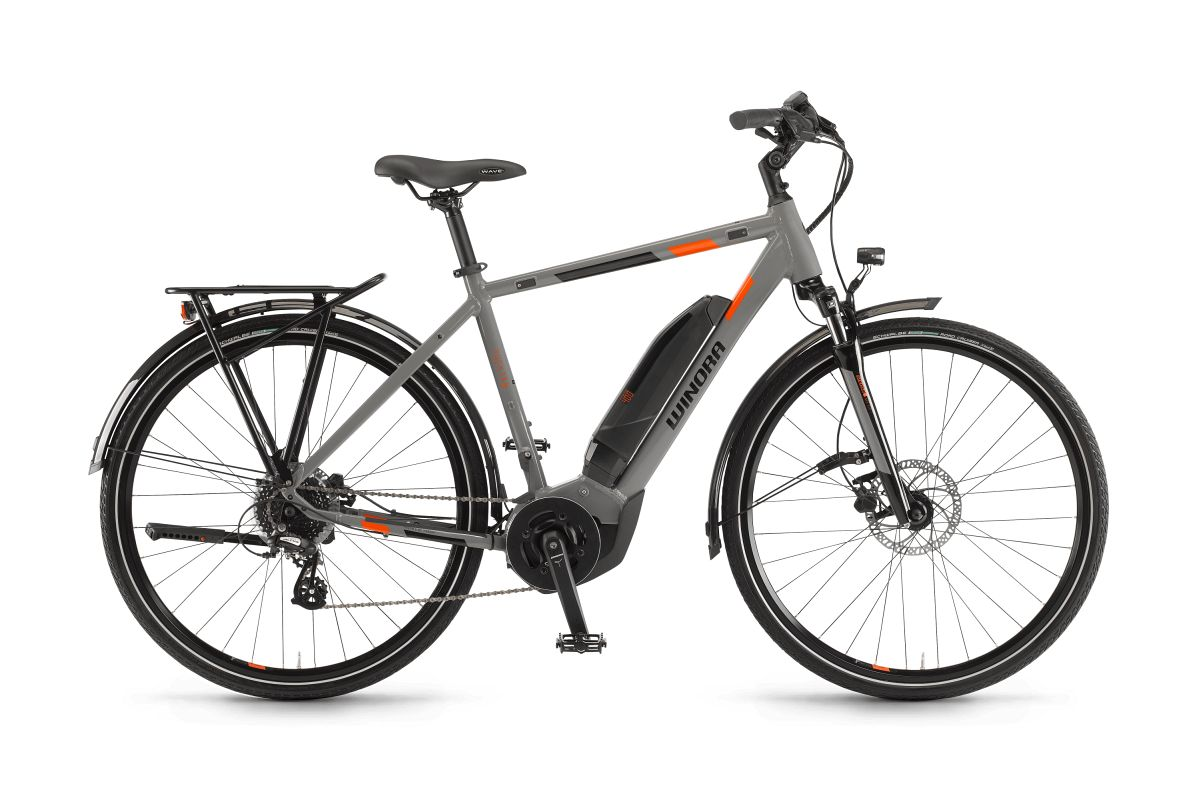 winora yucatan 8 400 pedelec e bike trekking fahrrad grau. Black Bedroom Furniture Sets. Home Design Ideas