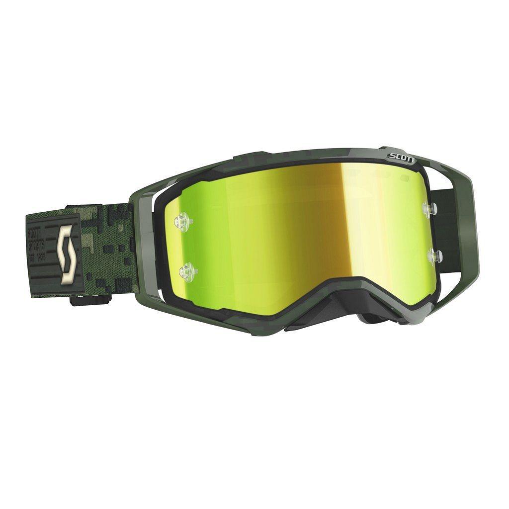 Scott Prospect MX Goggle Cross//MTB Brille grau//gelb chrom works