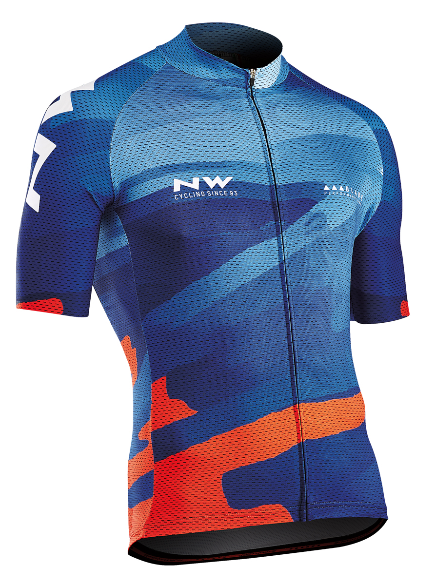 Northwave Blade 3 Fahrrad Trikot kurz blau/orange 2018   von Top ...