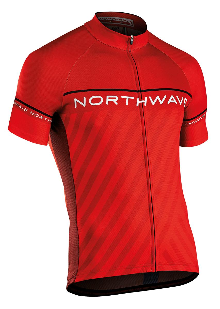 Northwave Logo 3 Kinder Fahrrad Trikot kurz rot/schwarz 2018   von ...