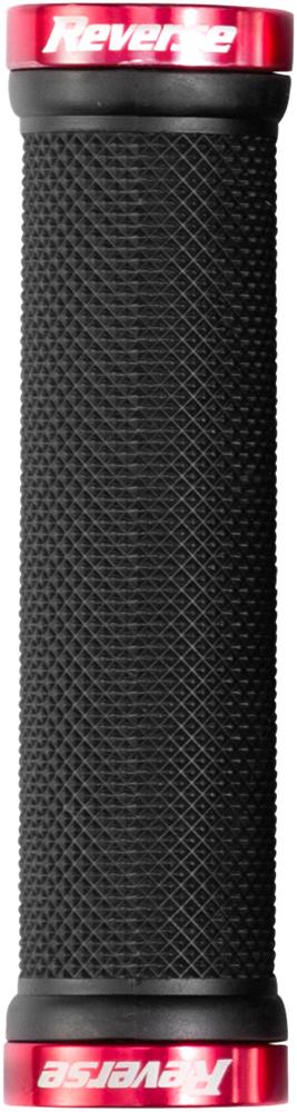 Reverse Grip Spin Lock-On Fahrrad Schraubgriffe schwarz//rot