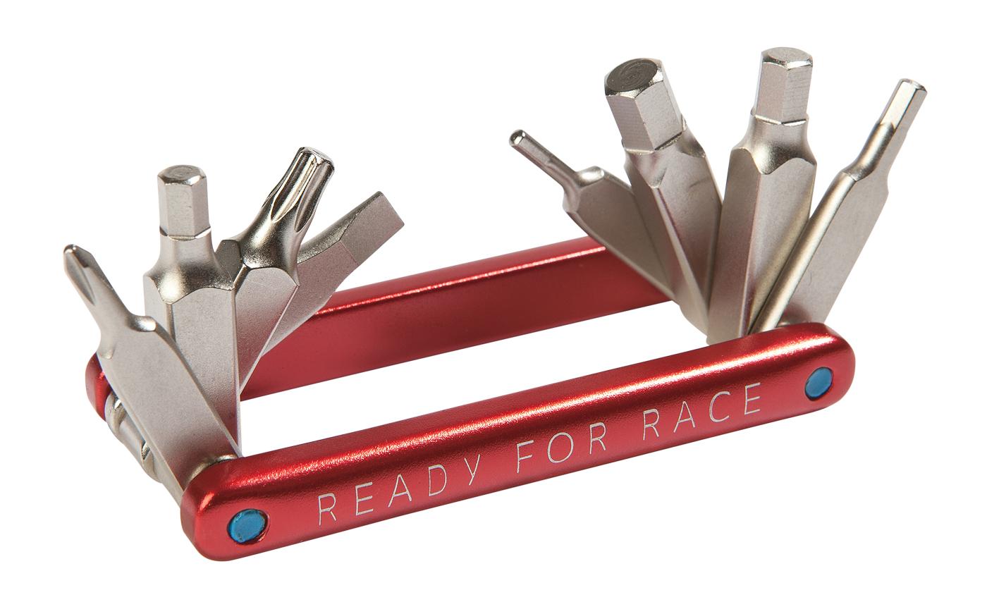 rfr multi tool 8 fahrrad mini werkzeug rot | von top marken online