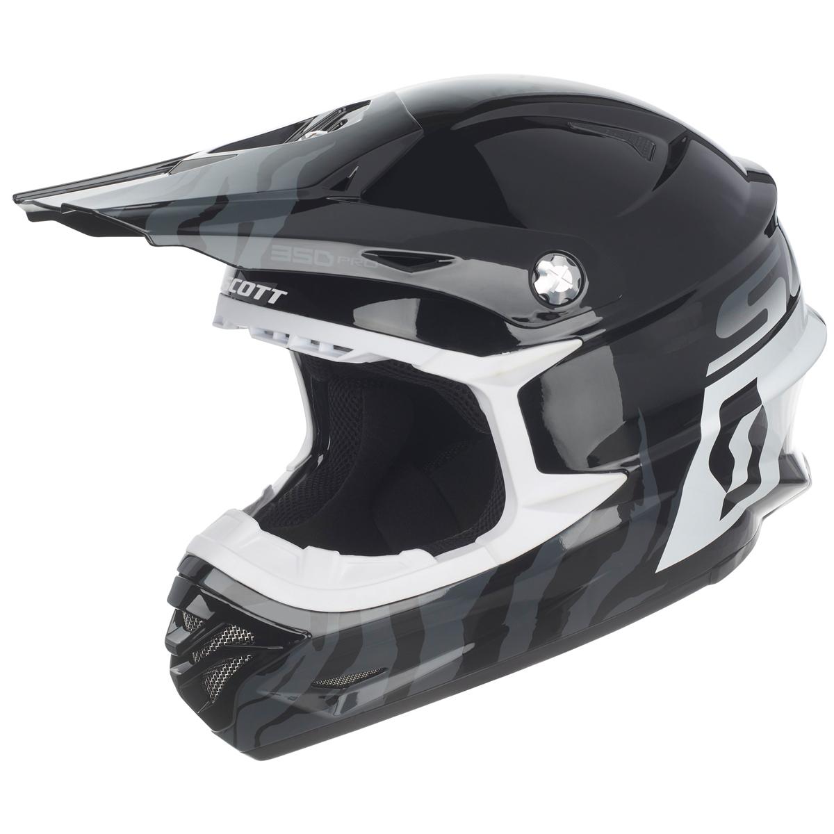 scott 350 pro track mx enduro motorrad bike helm schwarz. Black Bedroom Furniture Sets. Home Design Ideas