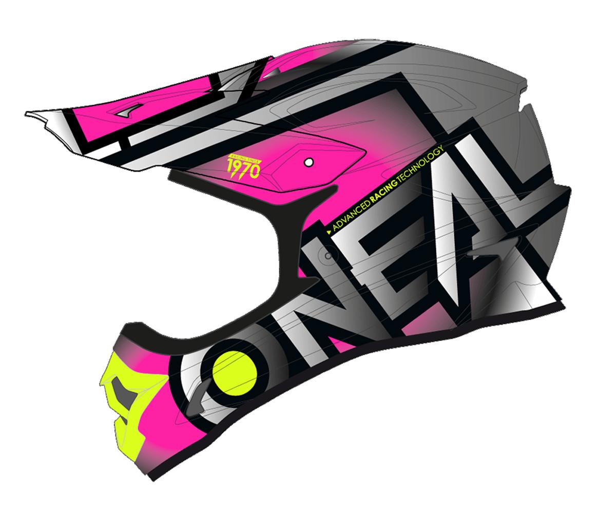 59-60cm Gr/ö/ße L ONEAL 3 Series Motocross Enduro MTB Helm Radium pink//grau 2018 Oneal