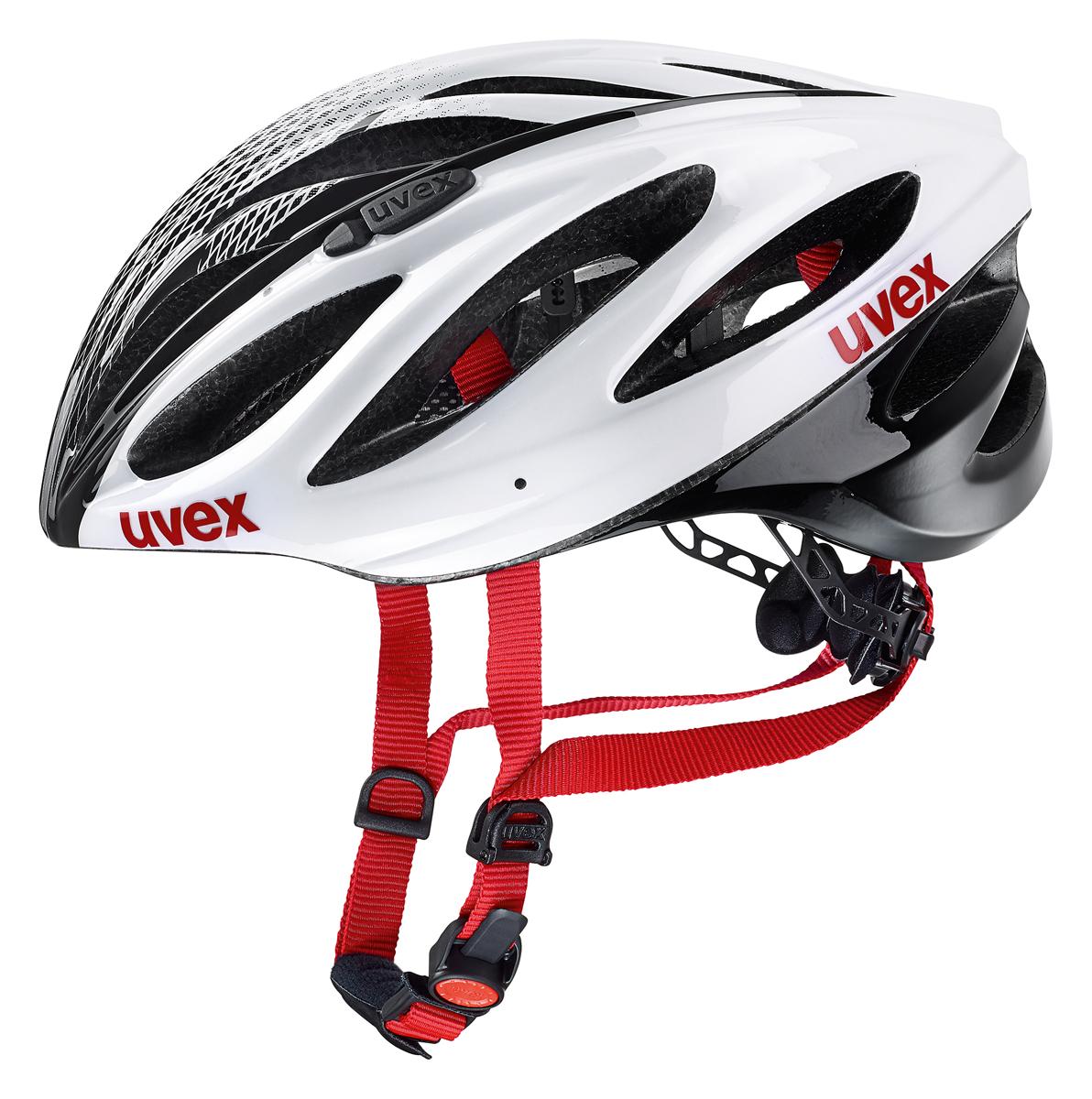 Uvex Boss Race Rennrad Fahrrad Helm weiß/schwarz/rot 2019 | von Top ...
