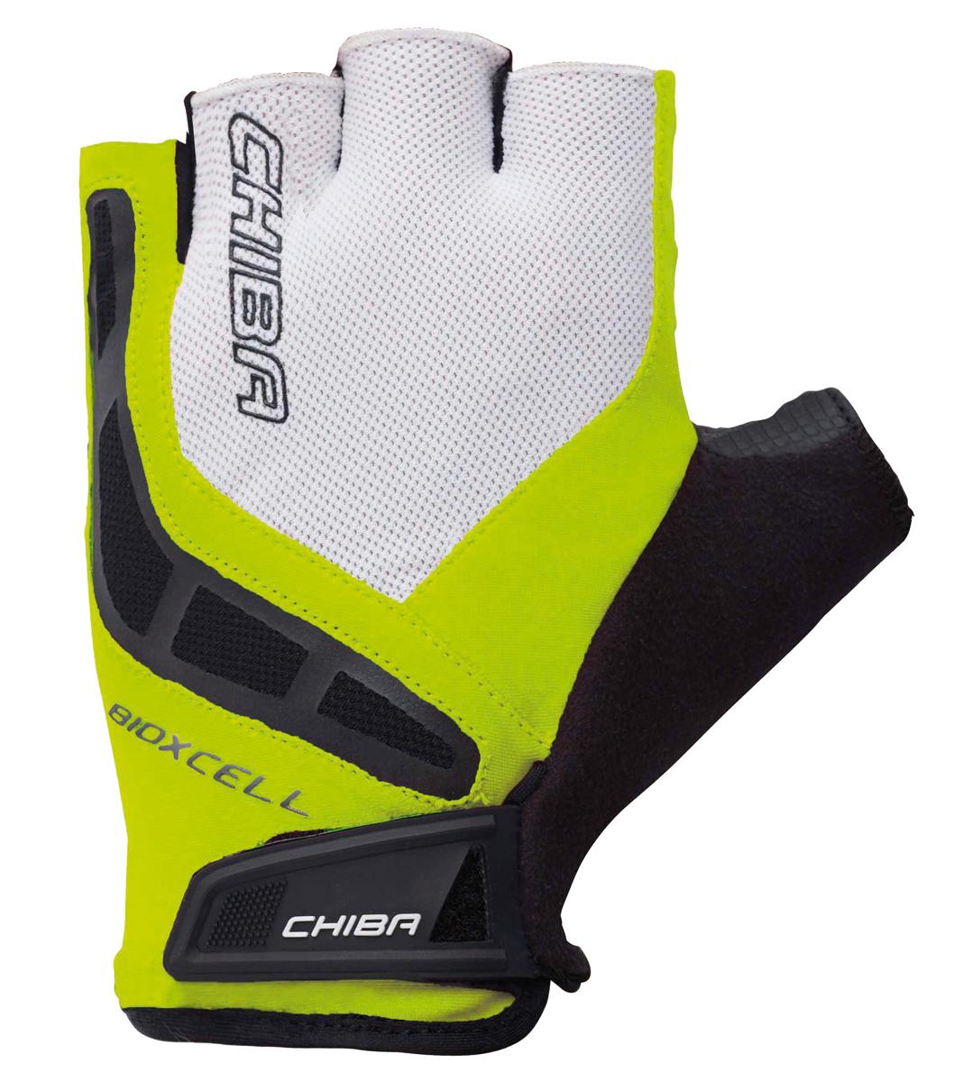Chiba BioXCell Fahrrad Handschuhe kurz grün//weiß//schwarz 2019