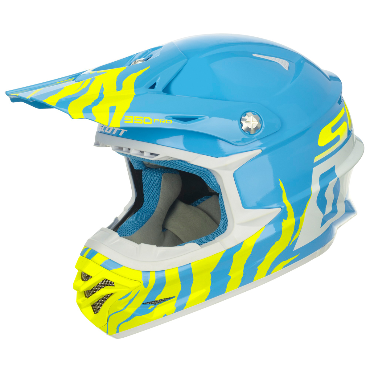 scott 350 pro race mx enduro motorrad bike helm blau. Black Bedroom Furniture Sets. Home Design Ideas