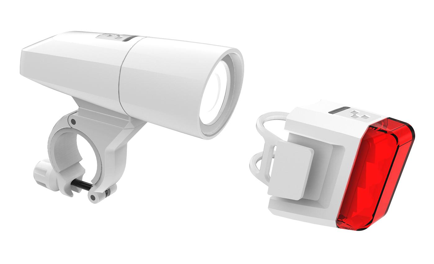 cube pro 18 fahrrad beleuchtungsset wei von top marken online kaufen we cycle. Black Bedroom Furniture Sets. Home Design Ideas