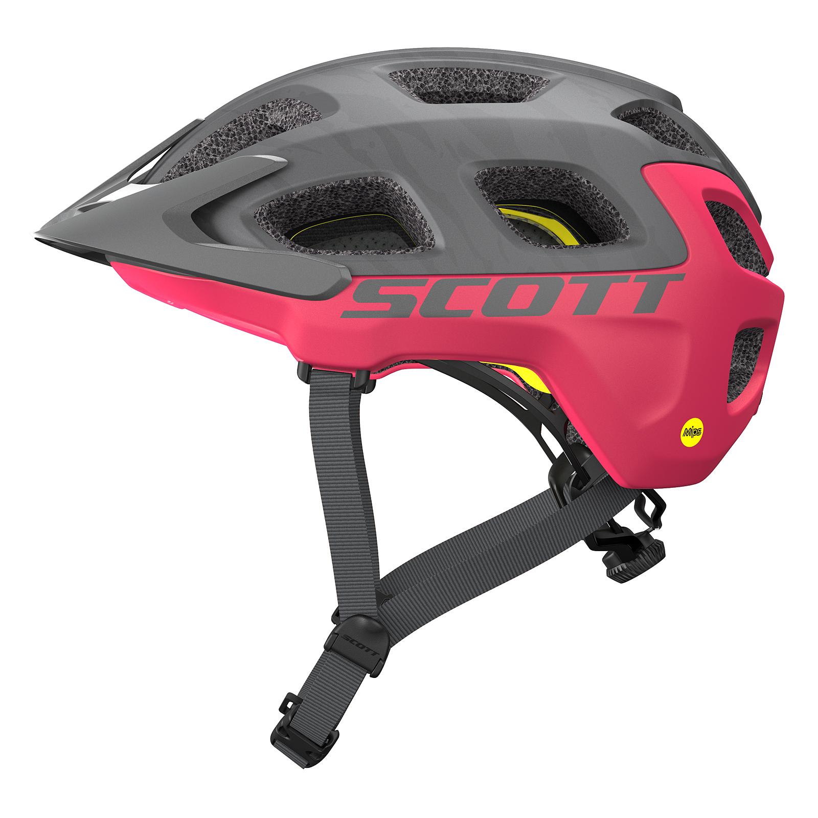 scott vivo plus mtb fahrrad helm grau pink 2018 von top. Black Bedroom Furniture Sets. Home Design Ideas