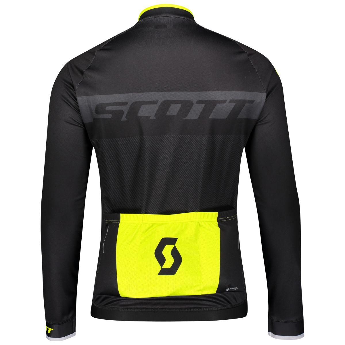 Scott RC AS Winter Fahrrad Trikot schwarz//gelb 2019
